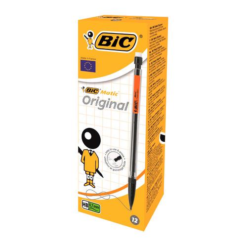 Упаковка карандашей механических BIC Matic 820959, 0.7мм, черный 12 шт./кор.