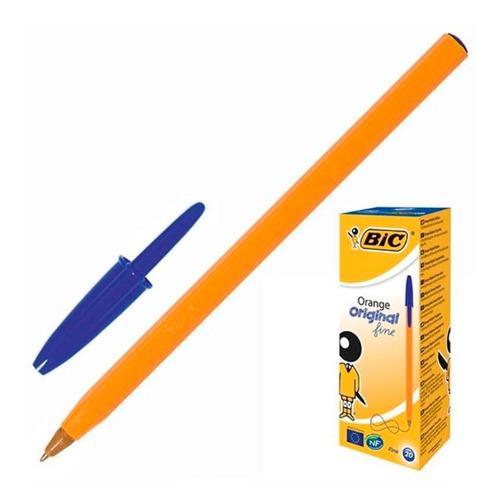 Упаковка ручек шариковых BIC Orange, 1 стержень, 0.8мм, синий, коробка картонная [8099221] 20 шт./кор.