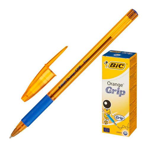 Ручка шариковая BIC Orange grip fine, 1 стержень, 0.7мм, синий, коробка картонная [811926] 20 шт./кор.