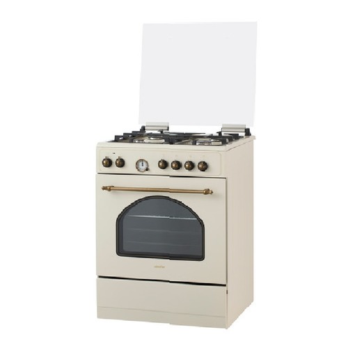 Газовая плита SIMFER F66EO45017, электрическая духовка, бежевый цена