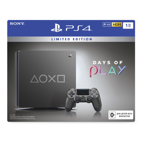 Игровая консоль SONY PlayStation 4 Days of Play Special Edition, черный игровая консоль sony playstation 4 slim 1tb black cuh 2208b gran turismo sport god of war horizon zero dawn ce psn 3 месяца