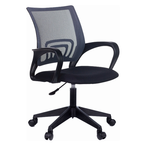 Фото - Кресло БЮРОКРАТ CH 696, на колесиках, ткань, серый [ch 696 #g] 696