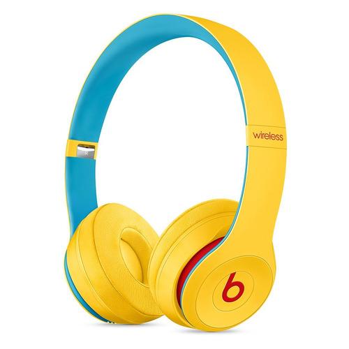 Наушники с микрофоном BEATS Solo3 Beats Club Collection, 3.5 мм/Bluetooth, накладные, желтый [mv8u2ee/a] беспроводные наушники beats solo3 wireless decade collection черный красный