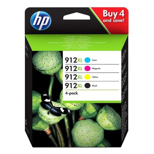 Картридж HP 912, черный / голубой / пурпурный / желтый [3yp34ae]  - купить со скидкой