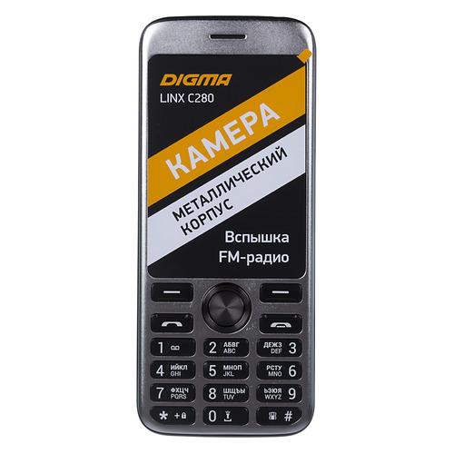 Мобильный телефон DIGMA Linx C280, черный