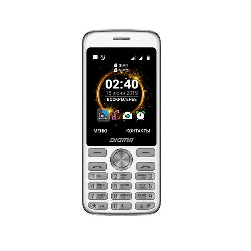 Мобильный телефон DIGMA Linx C280, серебристый