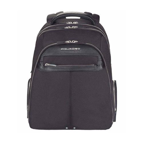 Рюкзак Piquadro Link CA1813LK2/N черный натур.кожа/нейлон сумка для ноутбука piquadro black square ca4021b3 n черный натур кожа