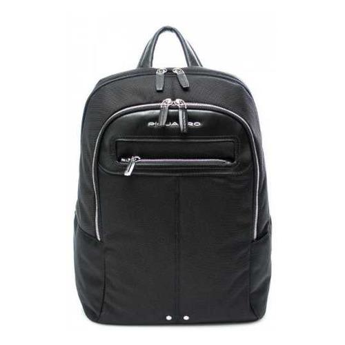 Рюкзак Piquadro Link CA3214LK2/N черный натур.кожа/ткань рюкзак унисекс piquadro pulse ca3869p15 n черный натур кожа