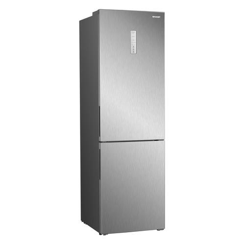 Холодильник SHARP SJ-B340XSIX, двухкамерный, серебристый металлик цена и фото