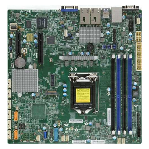 Серверная материнская плата SUPERMICRO MBD-X11SSH-TF-O, Ret