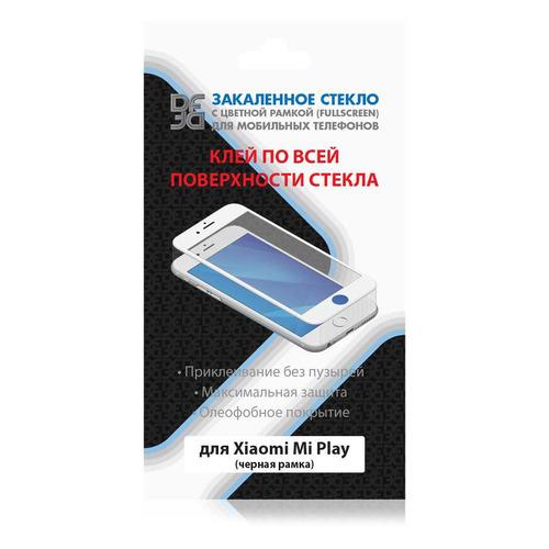 Защитное стекло для экрана DF xiColor-60 для Xiaomi Mi Play, 1 шт, черный [df xicolor-60 (black)] защитное стекло df xicolor 11 для xiaomi mi 5c с рамкой белый