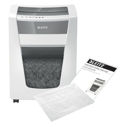 Фото - Уничтожитель бумаг LEITZ IQ Office Pro, P-5, 2х15 мм, 15 лист. одновременно, 30л [80050000] уничтожитель бумаг new united etalon et 15m p 5 15 лист одновременно 25 6л