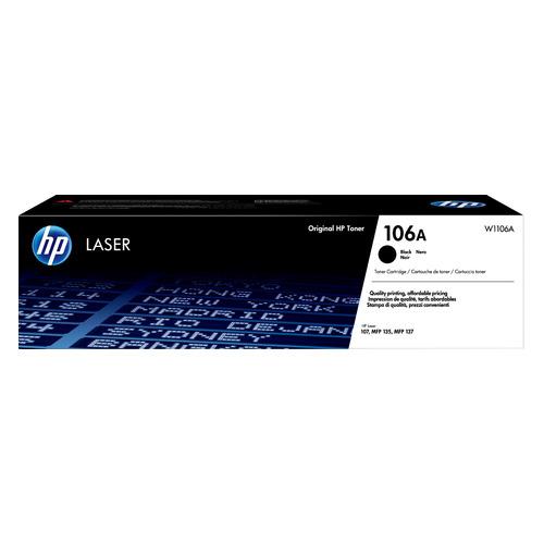 Картридж HP 106, черный / W1106A