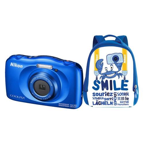 Фото - Цифровой фотоаппарат NIKON CoolPix W150, синий, рюкзак рюкзак david jones david jones da919bwglmd0