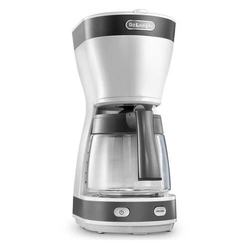 Кофеварка DELONGHI ICM16210.WS, капельная, белый / серебристый [0132301131]