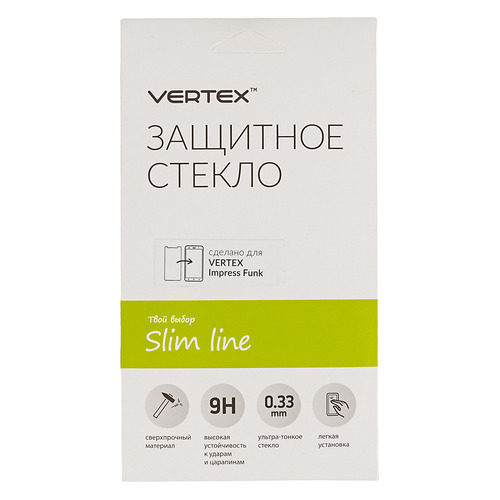 цена на Защитное стекло для экрана VERTEX для Vertex Impress Funk, 1 шт, прозрачный [sltfnk]