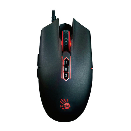 Мышь A4 Bloody P80 Pro, игровая, оптическая, проводная, USB, черный мышь a4 bloody v3 игровая оптическая проводная usb черный