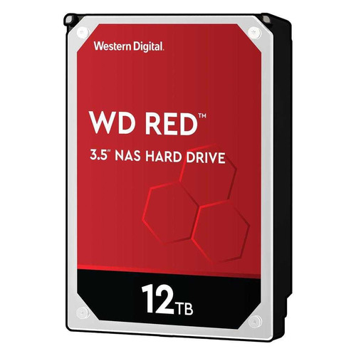Жесткий диск WD Red WD120EFAX, 12ТБ, HDD, SATA III, 3.5
