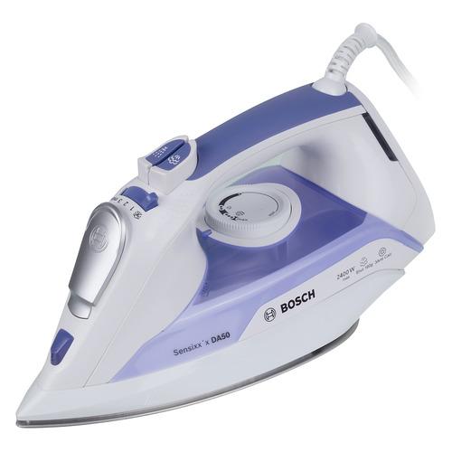 Фото - Утюг BOSCH TDA5024010, 2400Вт, белый/ фиолетовый утюг bosch tda5028020 2800вт белый фиолетовый