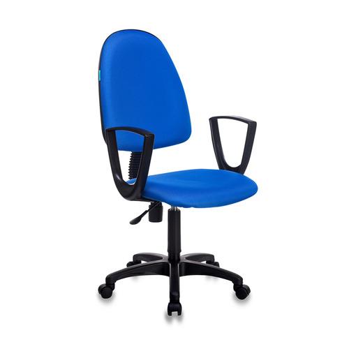 Кресло БЮРОКРАТ CH-1300N, на колесиках, ткань, синий [ch-1300n/blue] офисное кресло бюрократ ch 1300n