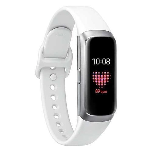Смарт-часы SAMSUNG Galaxy Fit, 0.95, серебристый / серебристый [sm-r370nzsaser]