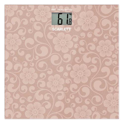 Напольные весы SCARLETT SC-BS33E034, до 180кг, цвет: розовый [sc - bs33e034] стоимость