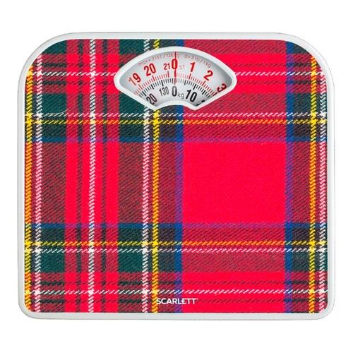 лучшая цена Напольные весы SCARLETT SC-BS33M042, до 136кг, цвет: рисунок/клетка