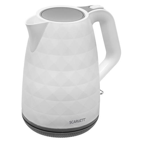 Фото - Чайник электрический SCARLETT SC-EK18P49, 2200Вт, белый и серый чайник электрический scarlett sc ek18p49