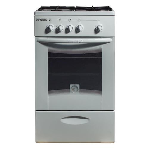 Газовая плита REEX CG-54, газовая духовка, без крышки, белый
