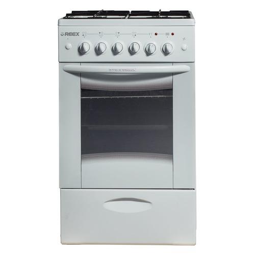 Газовая плита REEX CGE-540, электрическая духовка, без крышки, белый газовая плита reex cge 540 ecbk