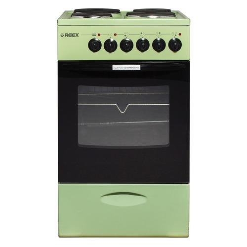 Электрическая плита REEX CTE-54, эмаль, без крышки, зеленый
