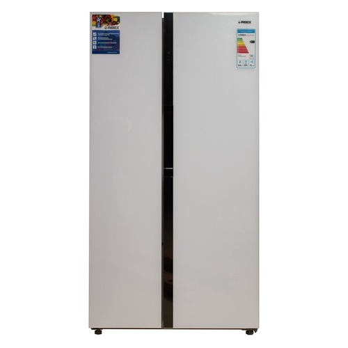 Холодильник REEX RF-SBS 17557 DNF, двухкамерный, белое стекло цены онлайн