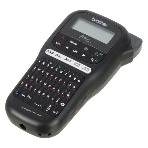 Термопринтер Brother P-touch PT-H110 (для печ.накл.) переносной черный/белый