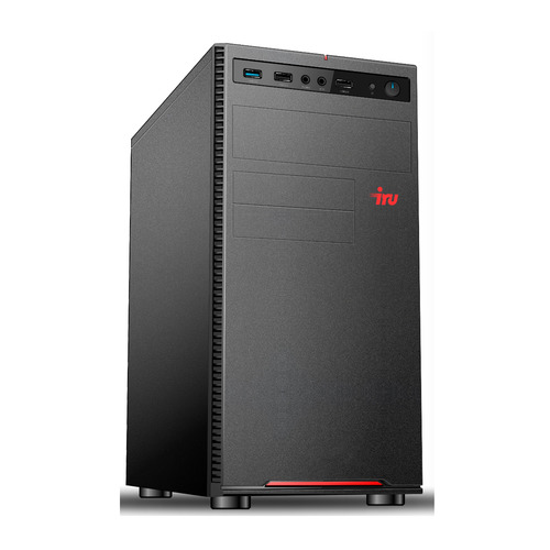 Компьютер IRU Office 312, Intel Pentium Gold G5400, DDR4 8ГБ, 1000ГБ, Intel UHD Graphics 610, Free DOS, черный [1159333] домашний компьютер mxp intel pentium g4400 8гб 120гб