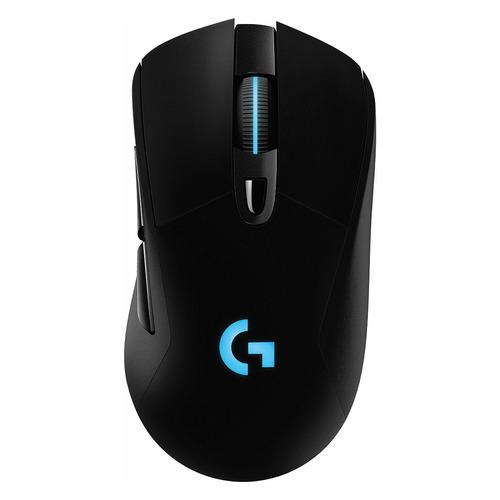 Фото - Мышь LOGITECH G703 LightSpeed (Hero), игровая, оптическая, беспроводная, USB, черный [910-005640] мышь logitech g502 hero игровая оптическая проводная usb белый и черный [910 006097]