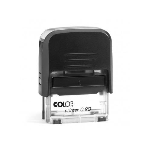 Текстовый штамп автоматический COLOP Printer C20, оттиск 38 х 14 мм, прямоугольный [printer c20.3.42] штамп стандартный colop printer c20 1 46 слово дубликат 520393
