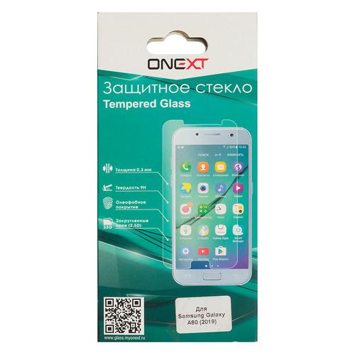 цена на Защитное стекло для экрана ONEXT для Samsung Galaxy A80, прозрачная, 1 шт [42206]
