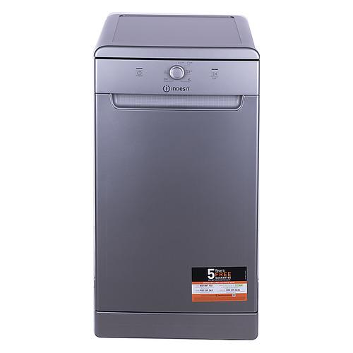 Посудомоечная машина INDESIT DSCFE 1B10 S RU, узкая, серебристая [155502]