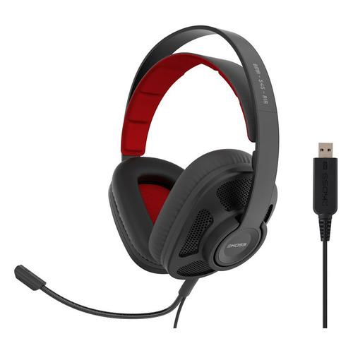 Гарнитура игровая Koss GMR-545-AIR, для компьютера, накладные, черный [15119851]