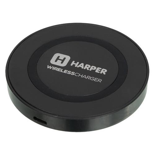 Фото - Беспроводное зарядное устройство HARPER QCH-2070, USB, microUSB, 0.7A, черный беспроводное зарядное устройство upvel uq tt01 usb 1 5а черный