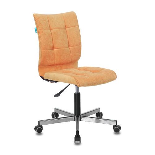 Кресло БЮРОКРАТ CH-330M, на колесиках, ткань, оранжевый [ch-330m/velv72]