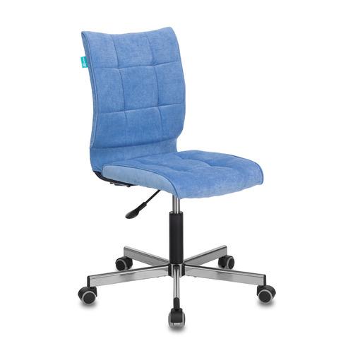 Кресло БЮРОКРАТ CH-330M, на колесиках, ткань, голубой [ch-330m/velv86]