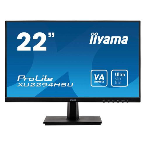 Монитор IIYAMA ProLite XU2294HSU-B1 21.5, черный монитор iiyama xb2472hsuc b1 24 black 1920x1080 va 75hz 8ms vga d sub dvi dp usbhub speaker vesa