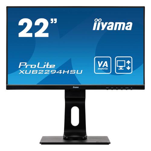 Монитор IIYAMA ProLite XUB2294HSU-B1 21.5, черный монитор iiyama xb2472hsuc b1 24 black 1920x1080 va 75hz 8ms vga d sub dvi dp usbhub speaker vesa