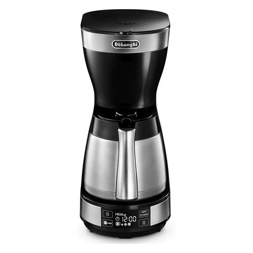 Кофеварка DELONGHI ICM16731, капельная, черный / нержавеющая сталь [0132301134] цена и фото
