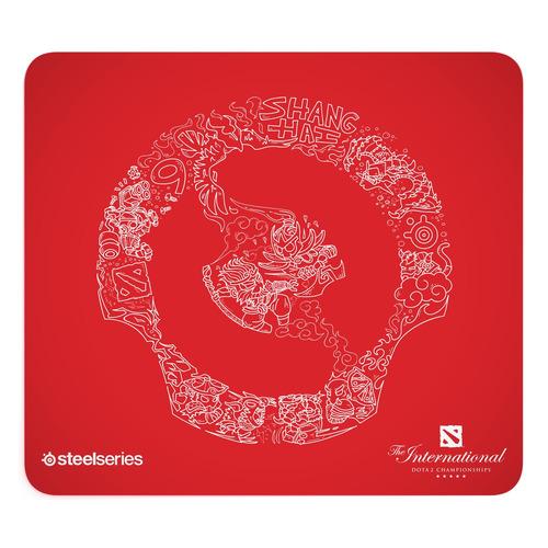 Коврик для мыши SteelSeries QcK Large Dota 2 Edition, рисунок/красный [63834]