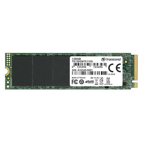 SSD накопитель TRANSCEND TS128GMTE110S 128ГБ, M.2 2280, PCI-E x4, NVMe