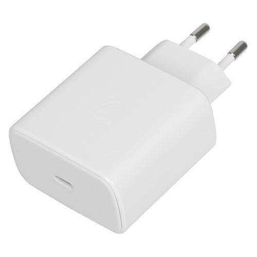Сетевое зарядное устройство SAMSUNG EP-TA800XWEGRU, USB type-C, USB type-C, 3A, белый автомобильное зарядное устройство samsung ep l5300 usb usb type c 3a черный