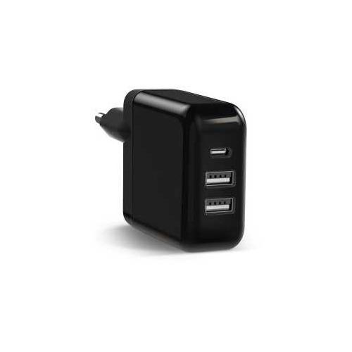 Сетевое зарядное устройство SAMSUNG KeyCo 3-in-1, 2 USB + USB type-C, USB type-C, 2A, черный цена 2017