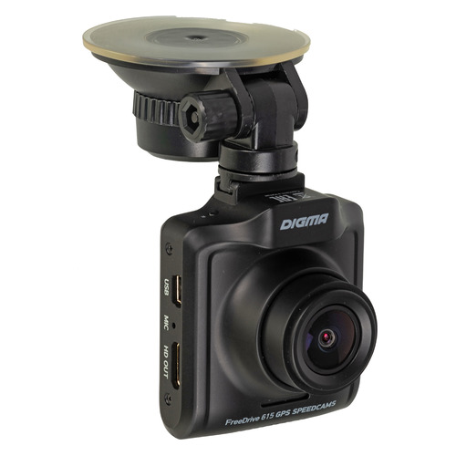 Видеорегистратор DIGMA FreeDrive 615 GPS Speedcams, черный